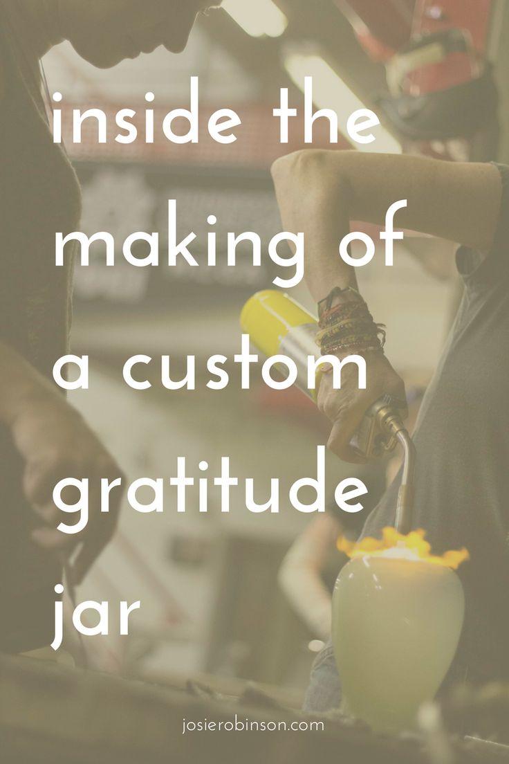 How to make a custom, glass blown gratitude jar: In the studio with artist Rachel Masica   gratitude jar   glass art  