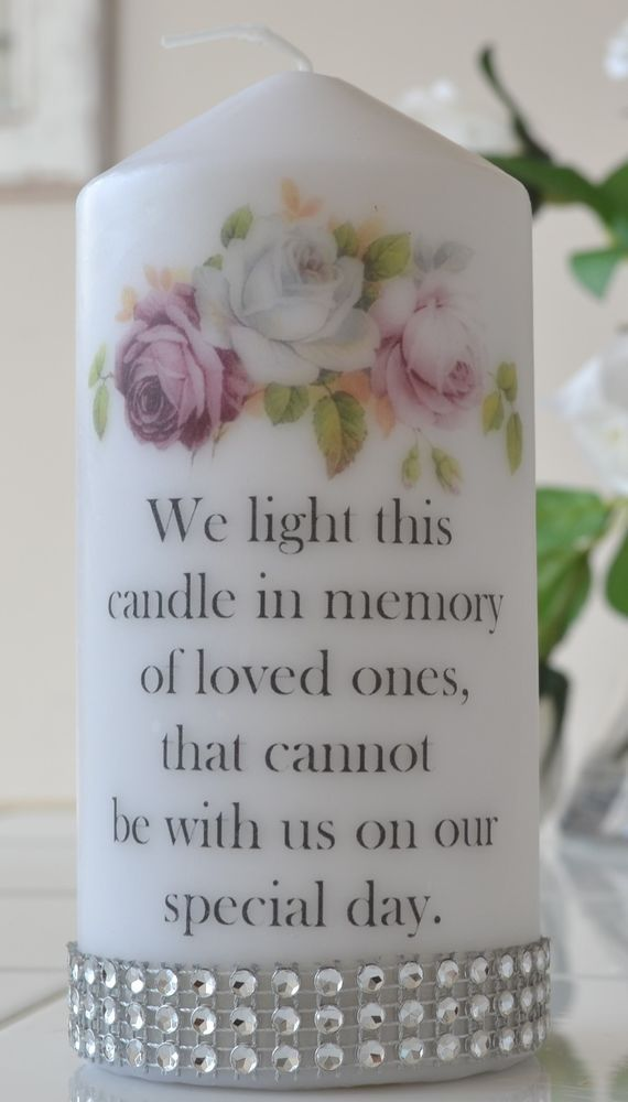 Memorial wedding Large Candle