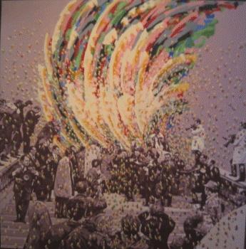 """Gérard Fromanger """"Eclaboussures""""  huile sur toile, 200 x 200 cm, 1967"""