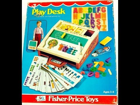 1972 Fisher Price Play Desk - YouTube
