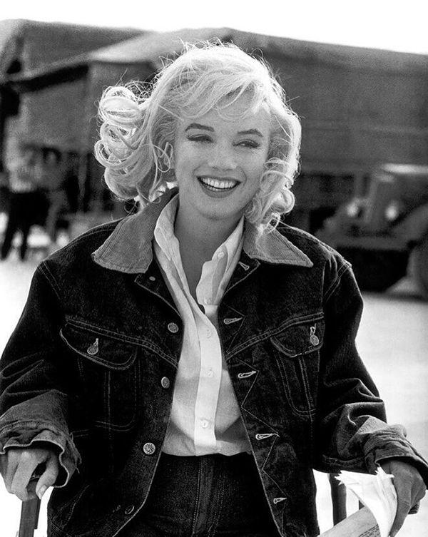 Marilyn Monroe jeans on jeans