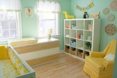 yellowaqua nursery via customnurseryart_blogspot