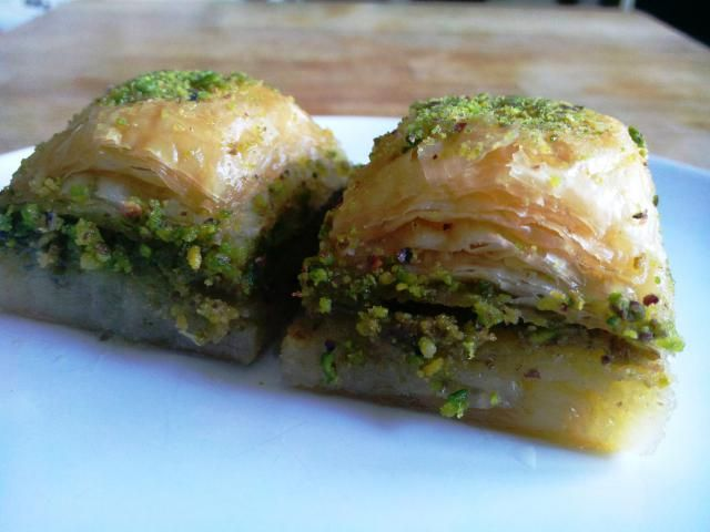 How to Make Authentic Turkish Pistachio Baklava: Baklava made with pistachio nuts is the most popular kind of baklava in Turkish cuisine.