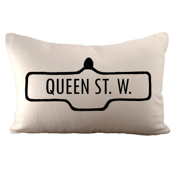 Custom orders are welcome! Include the street name with your order.  Cushion cover w/ invisible zipper size - 12x18 insert not included Choose