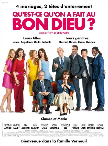 A Catholic French couple sees their life upside down when their four daughters get married to men of different religion and origins. Director: Philippe de Chauveron Writers: Philippe de Chauveron (dialogue), Guy Laurent (dialogue) Stars: Christian Clavier, Chantal Lauby, Ary Abittan
