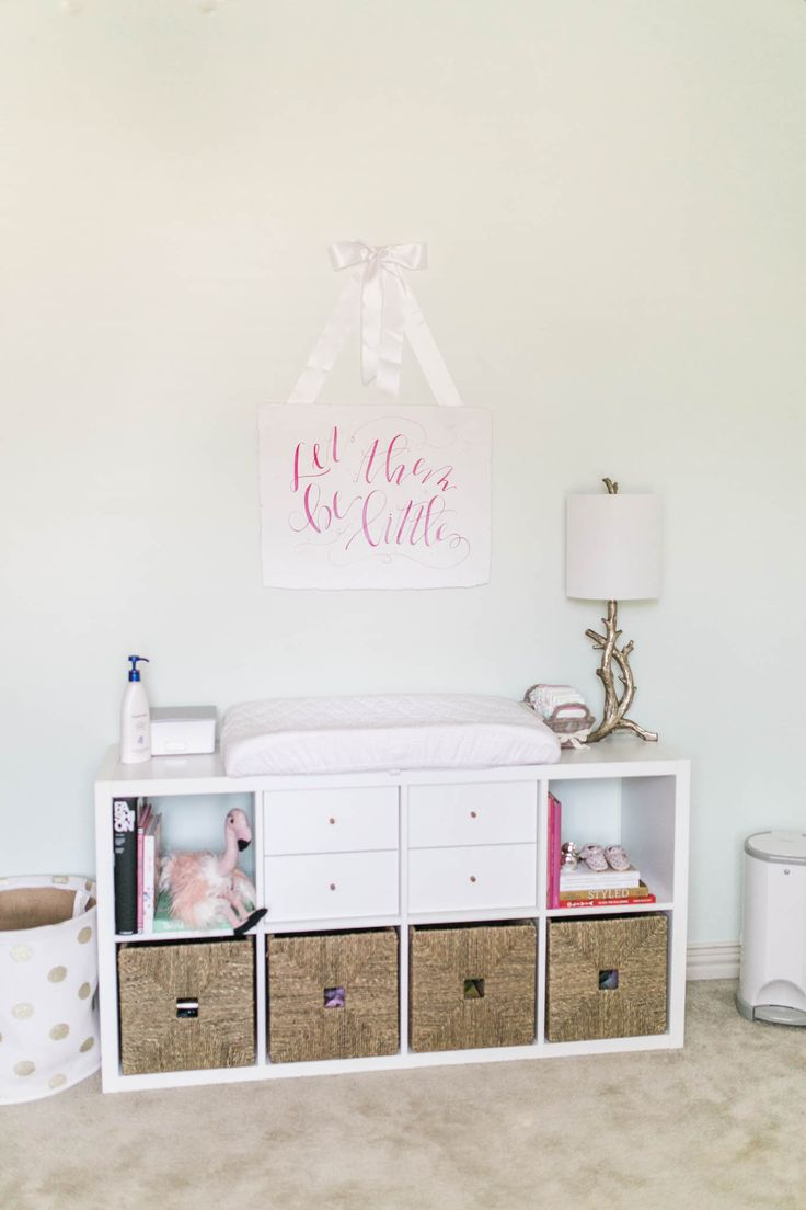 Affordable IKEA nursery changing table