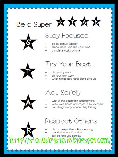 "class STAR rules - perfect for the school's ""All-Star"" theme"