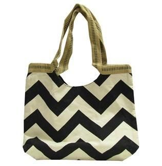 Canvas chevron bag with monogramm by OwlStitchKB on Etsy, $30.00