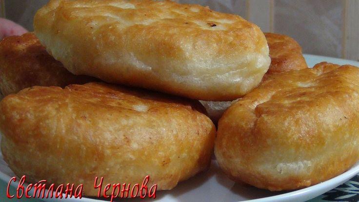Пирожки жареные пышные с хрустящей корочкой (постные) Fried pies (fasting)