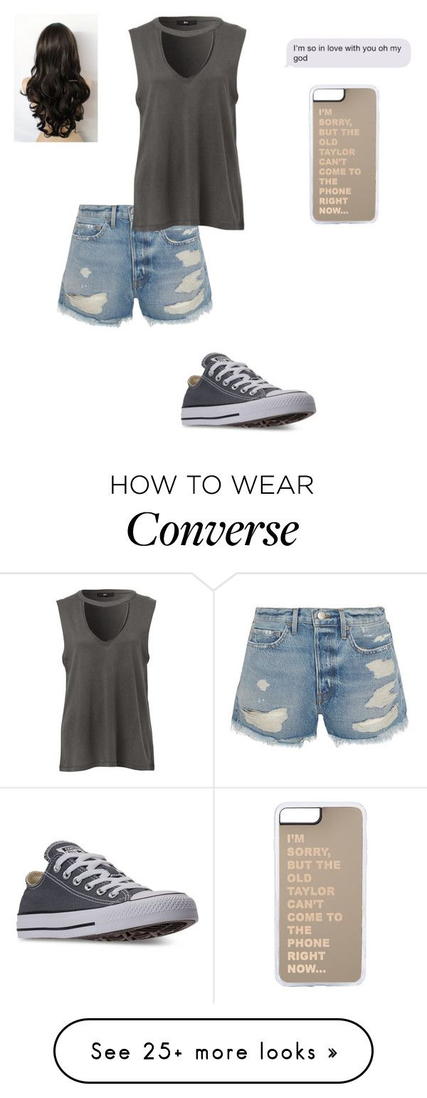 """""""God I am so in love wit you"""" by crystalrose-014 on Polyvore featuring Frame and Converse"""