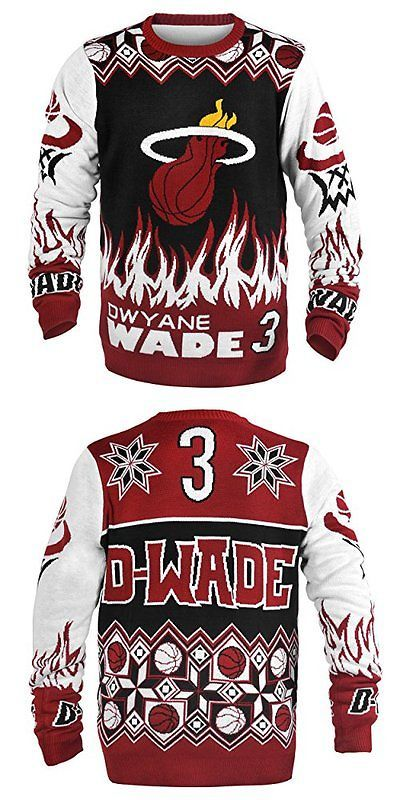 Other Basketball Clothing 158974: Klew Nba Miami Heat Dwyane Wade #3 Ugly Sweater, Large, Red -> BUY IT NOW ONLY: $67.34 on eBay!