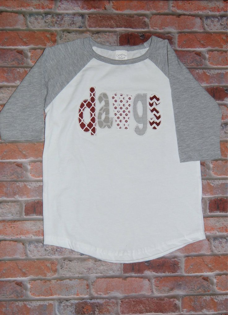 Mississippi State Bulldogs; MSU bulldogs game day raglan; Tailgate raglan; Miss State bulldogs; Game Day shirt; Maroon and White; Hail State by CutiePatootieKiddos on Etsy