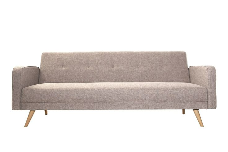 Canapé convertible 3 places design scandinave naturel ULLA