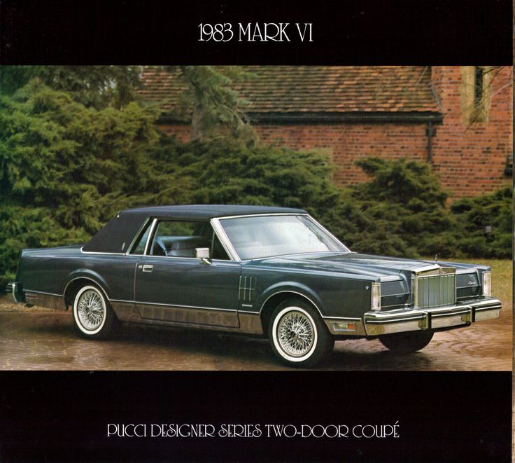 lincoln mark series 1983 lincoln continental mark vi pucci designer series two door coupe