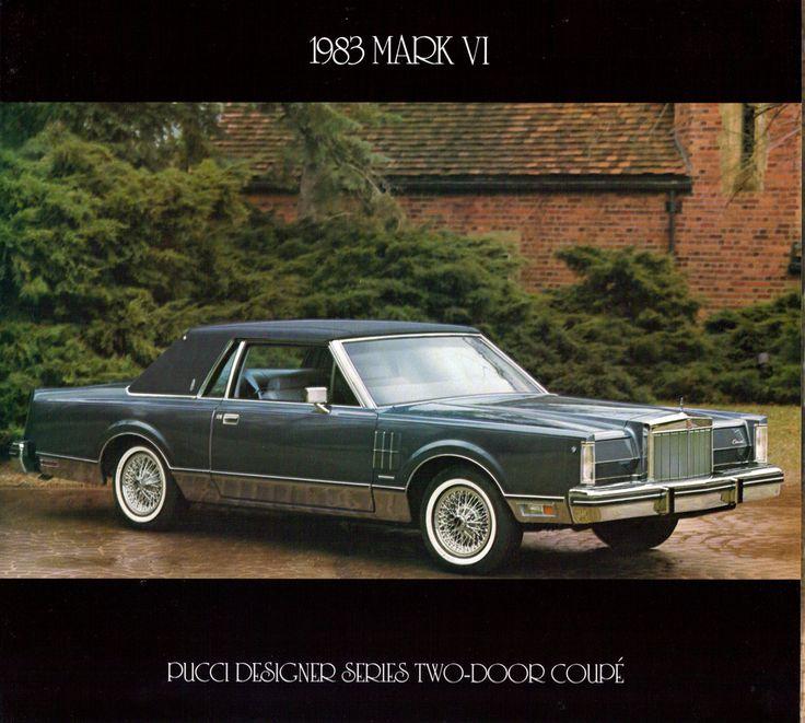 Lincoln Mark Series  1983 Lincoln Continental Mark VI Pucci
