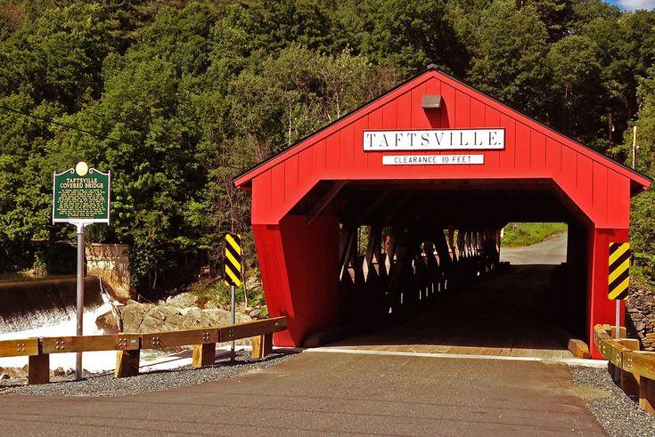 Taftsville Covered Bridge in Woodstock, Vermont