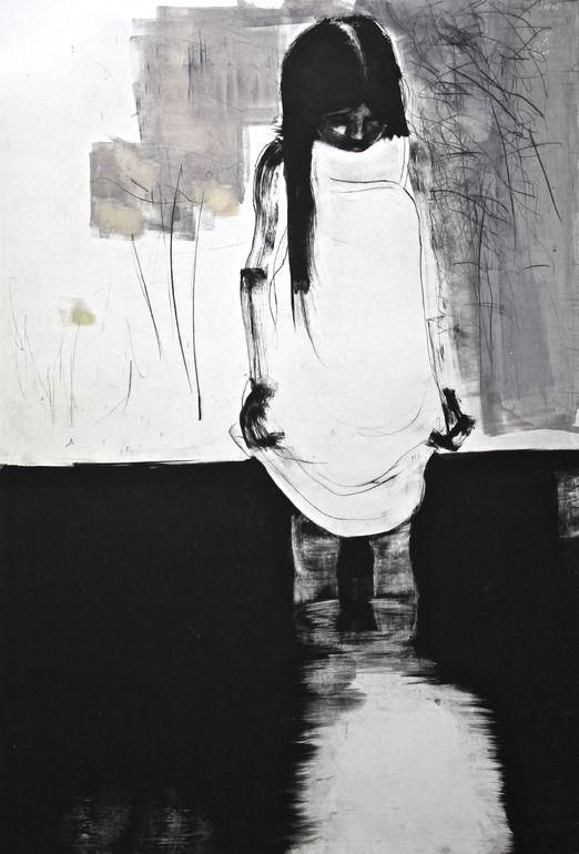 Saatchi Online Artist: Tiina Kivinen; Collagraph, 2010, Printmaking Low tide