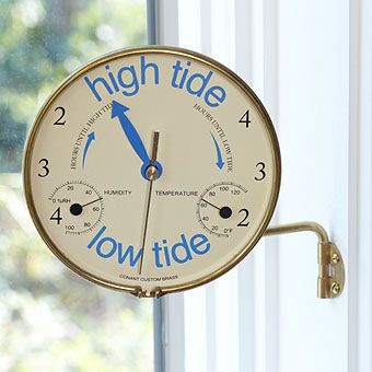A great clock for tracking the incoming or outgoing, tide. ~Gave one to my folks and they pitched it !~