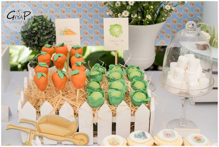Cabbage + Carrot Cake Pops from a Peter Rabbit Birthday Party via Kara's Party Ideas | KarasPartyIdeas.com (7)