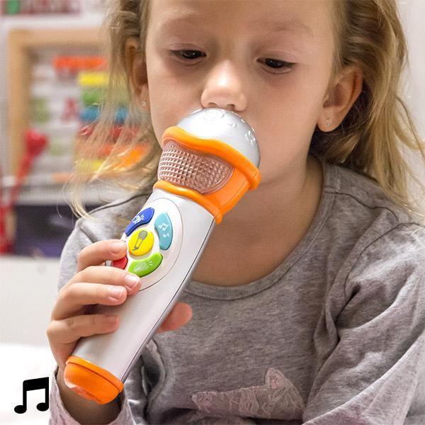 Ihr #Kind fühlt sich wie ein #Künstler mit dem #Handmikrofon der Kinder mit #Licht und #Ton !