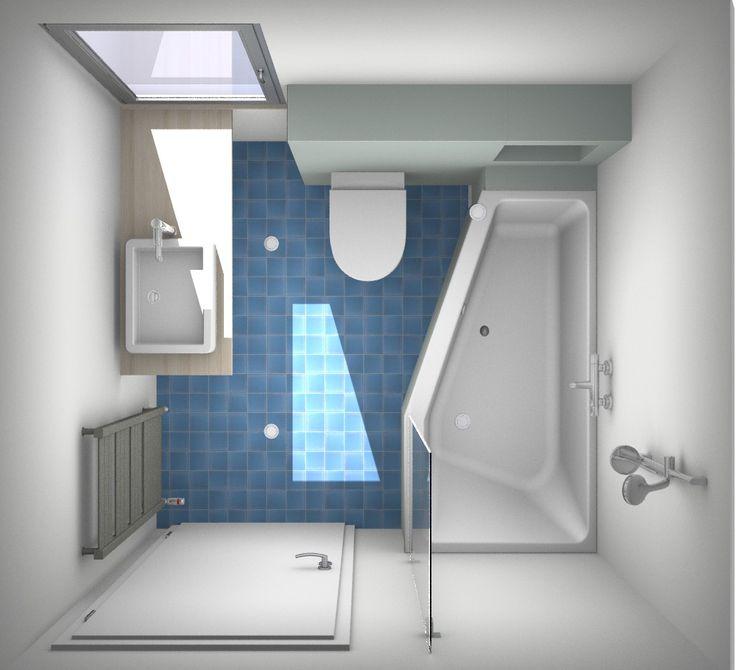 Een paar slimme ontwerpen voor de kleine badkamer kleine badkamer pinterest met we and van - Hoe amenager een kleine badkamer ...