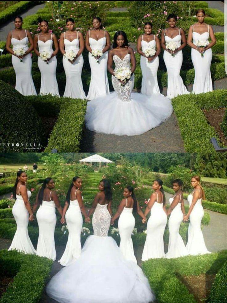 All White Wedding Party