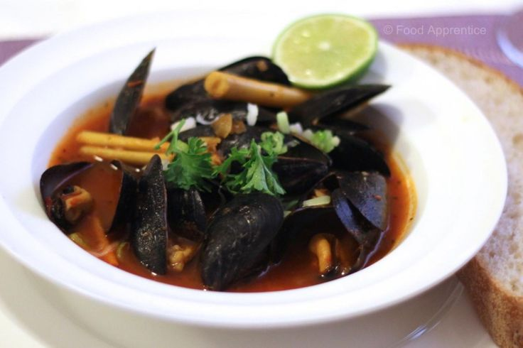 Spicy Thai Mussels.  http://foodapprentice.com/thai-mussels/