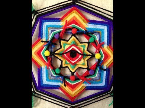 Mandalas em Fios - Olhos de Deus - Passo a Passo - YouTube