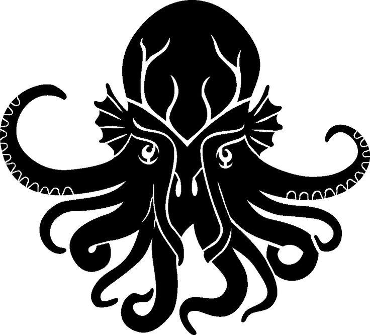 Kraken stencil octopus freezer paper pinterest