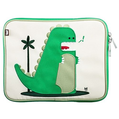 iPad case with a dinosaur decorated with the green elements - beautiful! <3 #backtoschool