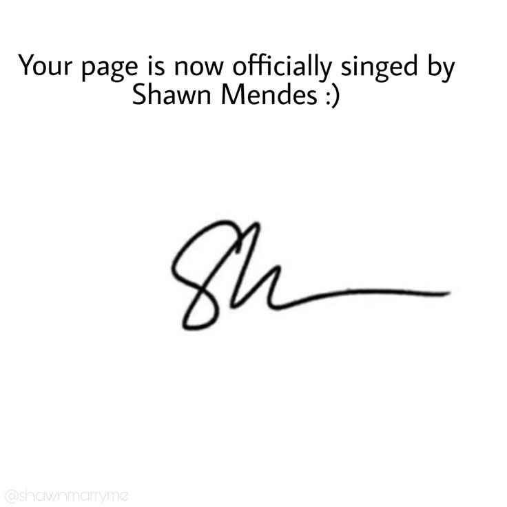 Shawn Mendes Signature on Famous Perfume Brands