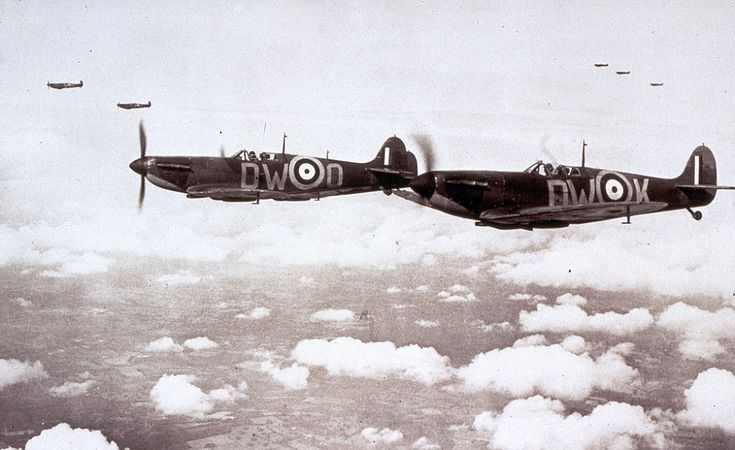 Defending the nation: Some 3,000 airmen were scrambled to defend the shores of Britain -  ...