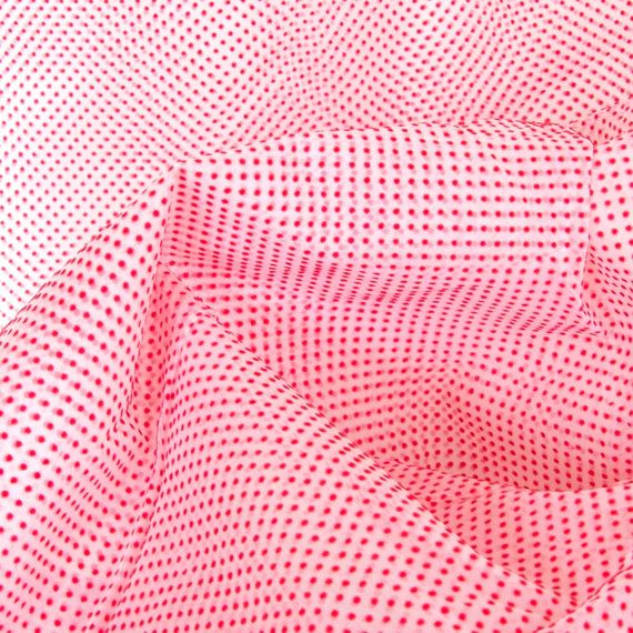 Real Dotted Swiss Fabric Red Flocked Dots Yardage | Dots ...