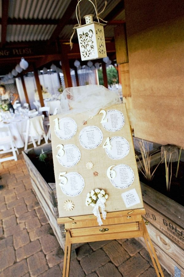 What a pretty way to display table numbers