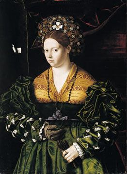 Portrait of a Lady in a Green Dress by Bartolomeo Veneto ca. 1530.