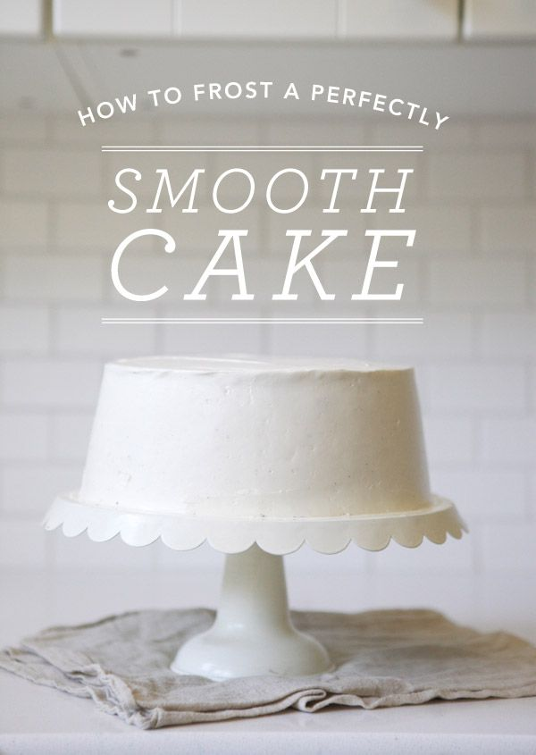 How to frost a perfectly smooth cake.