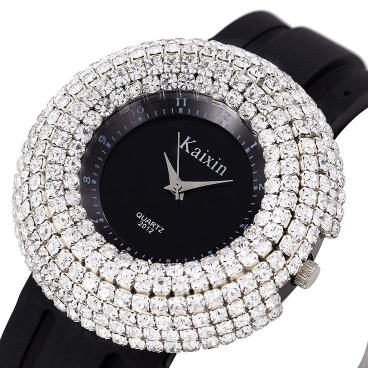 Luxury Rhinestone Paved dial Silicone band Casual/Dress Wrist Watches for Women //Price: $21.97 & FREE Shipping //     #shopping #styles
