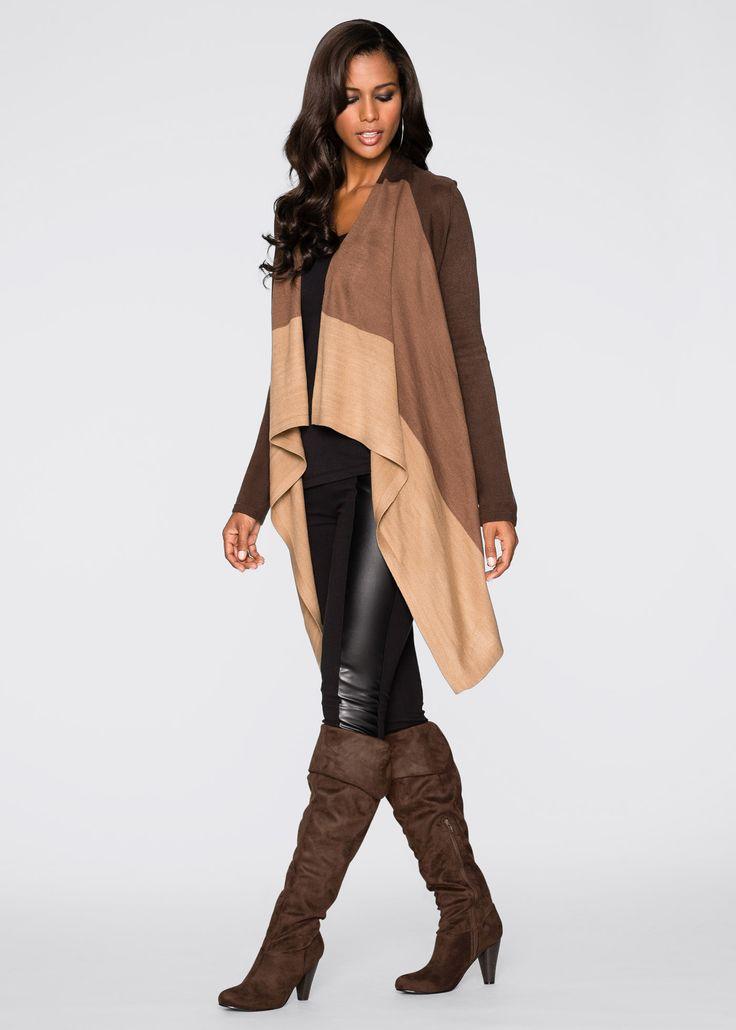 Трикотажный кардиган, BODYFLIRT boutique, коричневый