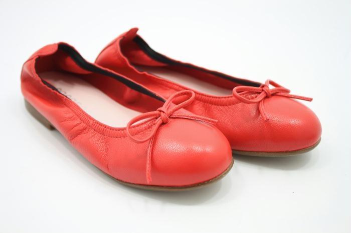 Eli ballerina rood leer met strik