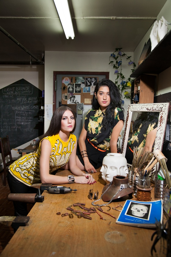"""{LOVE} these ladies at work... Sabine Le Guyader and Jill Martinelli, co-founders/designers of jewelry line """"Lady Grey"""" (inspired by the doomed tale of Lady Jane Grey)"""
