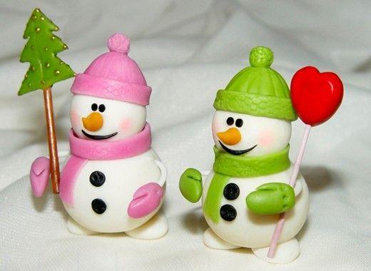 Снеговик из зефира своими руками