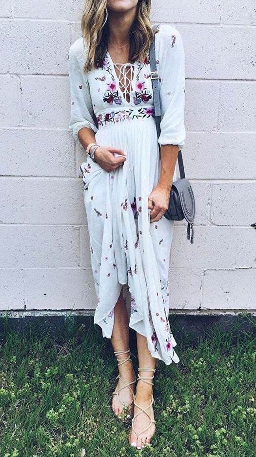 Wondrous Floral Embroidered Maxi Dress featured by cellajaneblog…
