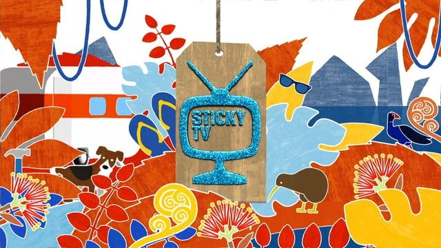 Opening title sequence for Sticky TV Kids show