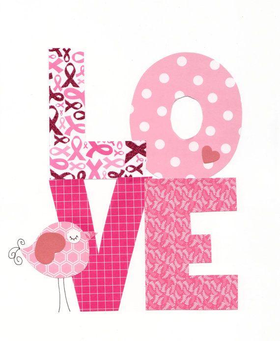 Love Print For Breast Cancer Awareness Nursery Artwork
