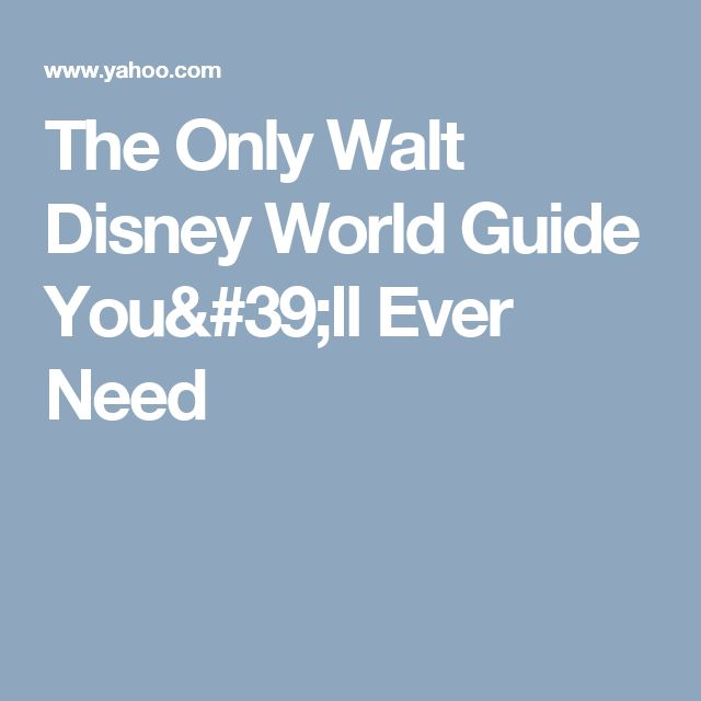 The Only Walt Disney World Guide You'll Ever Need