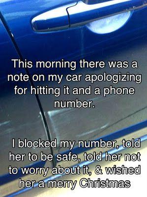 A true random act of kindness.