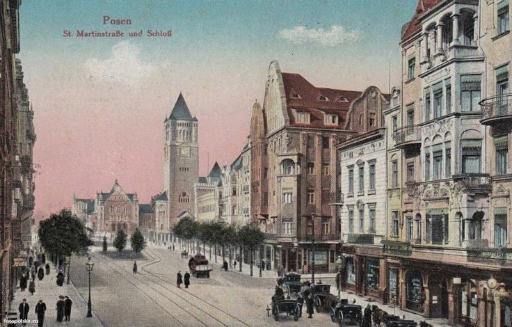 Poznan Poland, ul.św.Marcin w 1916 r.