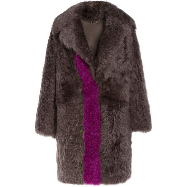 Fendi Shearling Coat (155.270 RUB) ❤ liked on Polyvore featuring outerwear, coats, 2016 coat, multicolor, shearling coat, colorful coat, shrug cardigan, fendi coat and sheep fur coat