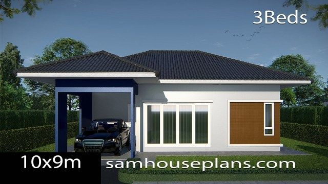House Plans Idea 10x9 With 3 Bedrooms Sam House Plans House Plans Story House Porch Design
