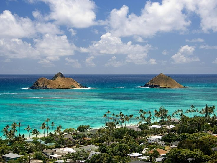 Mokulua Islands, Oahu.  This is one of the places I lived in Hawaii.
